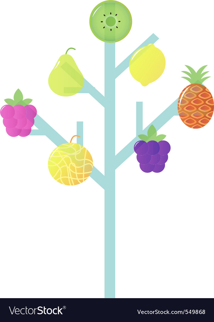 Abstract stylized retro fruit vector | Price: 1 Credit (USD $1)