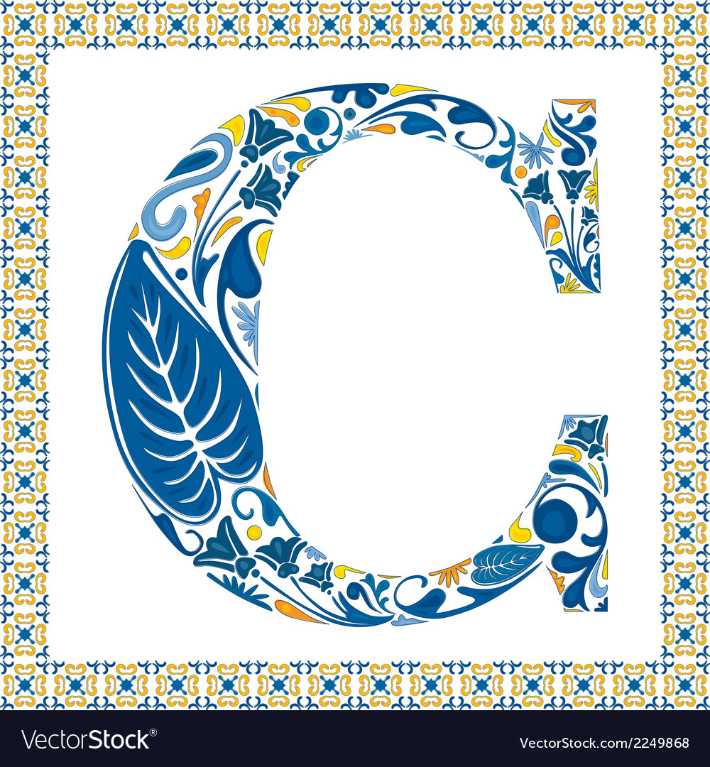Blue letter c vector | Price: 1 Credit (USD $1)