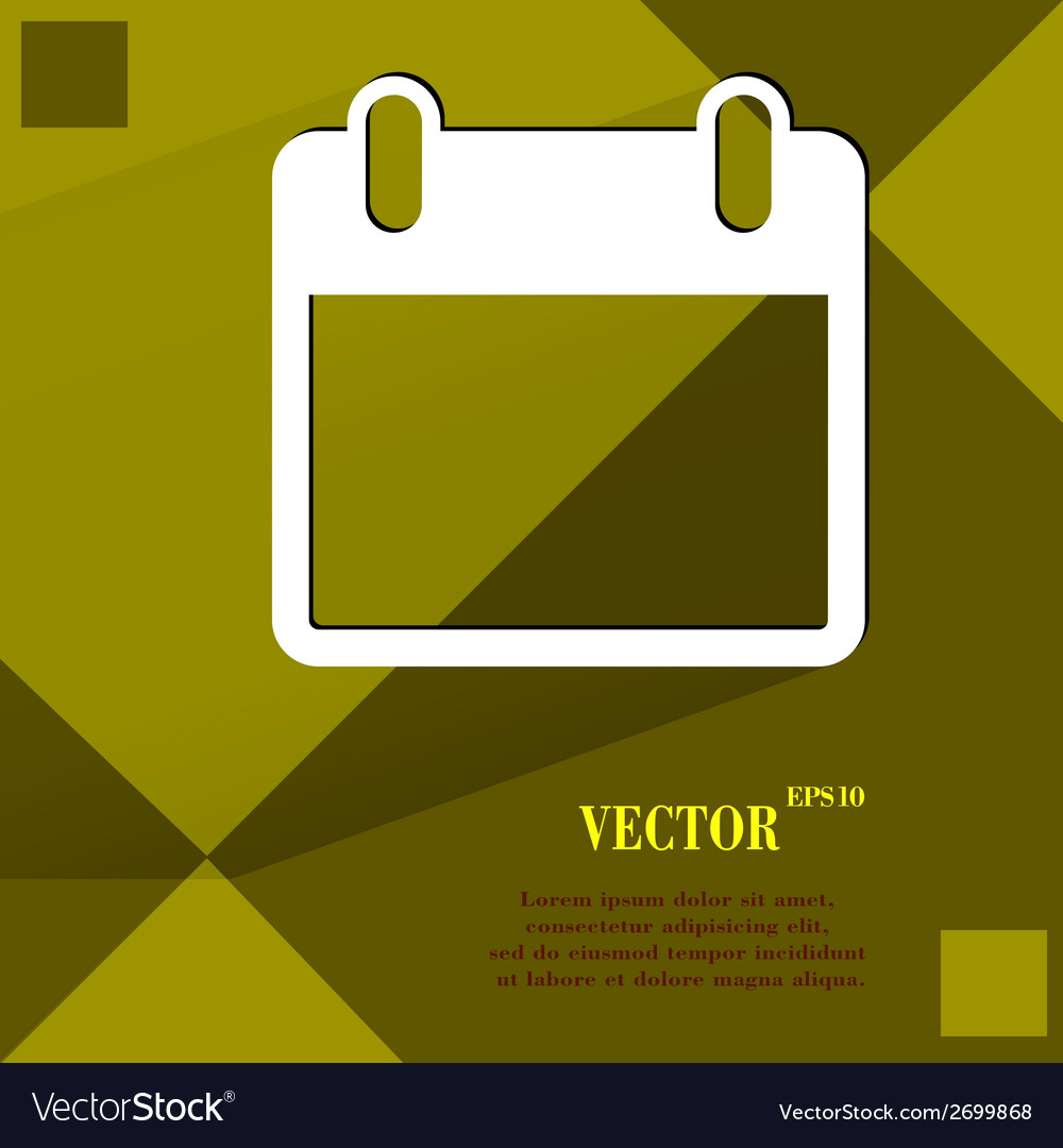 Calendar flat modern web design on a flat vector | Price: 1 Credit (USD $1)