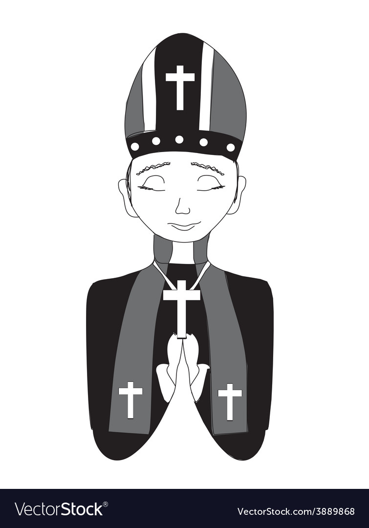 Catholic priest bishop pope vector | Price: 1 Credit (USD $1)