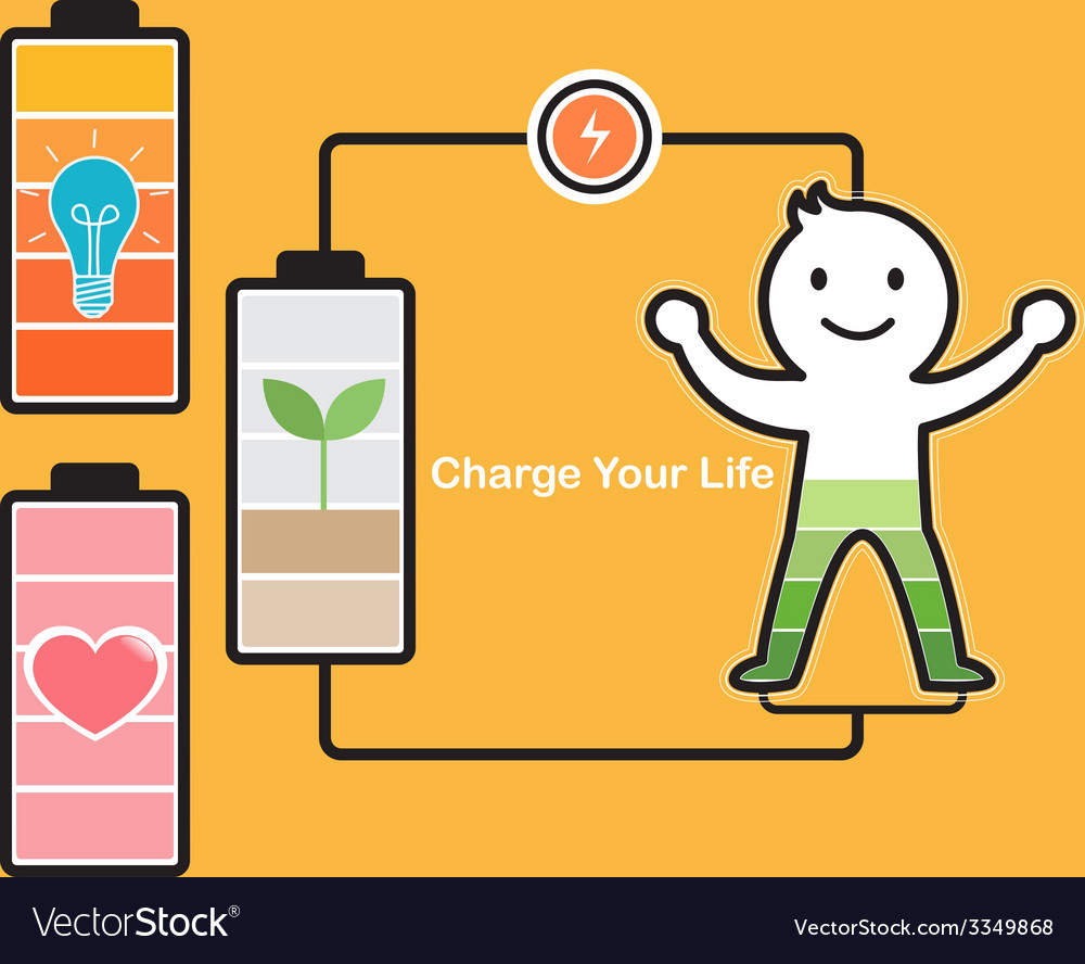 Charge life vector | Price: 1 Credit (USD $1)