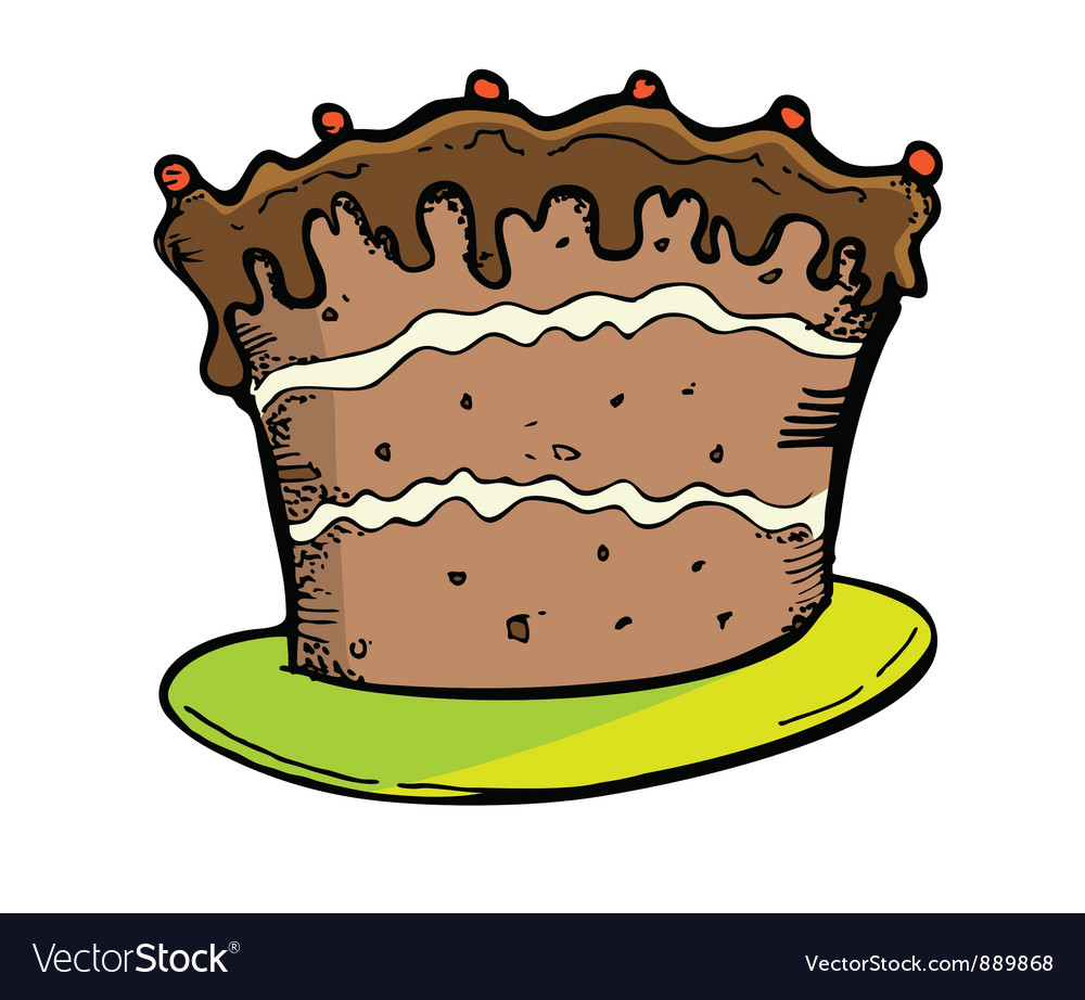 Chocolate cake vector | Price: 1 Credit (USD $1)