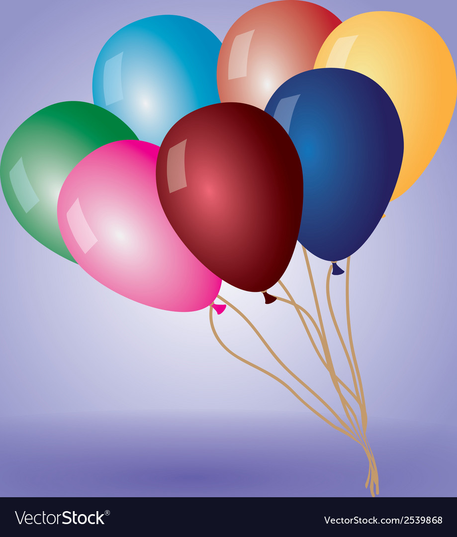Colorful balloons with helium eps10 vector | Price: 1 Credit (USD $1)