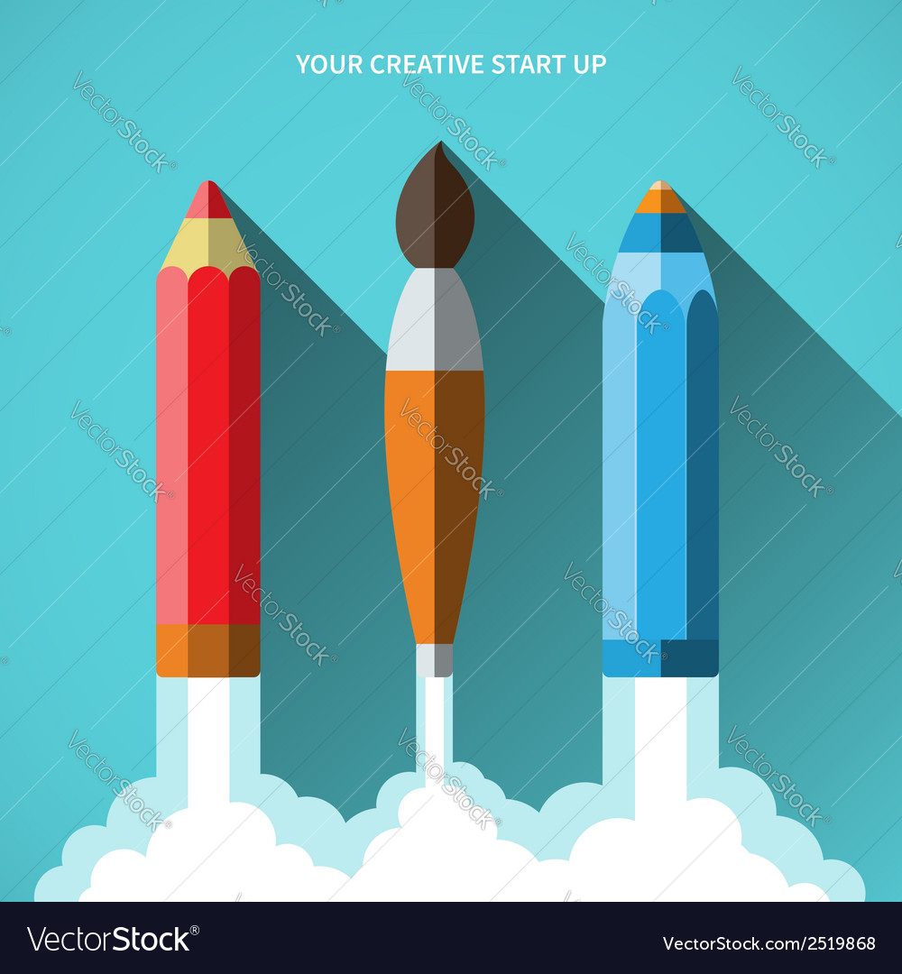 Flat design concept of new creative business vector | Price: 1 Credit (USD $1)
