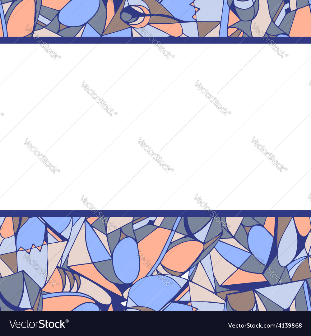Frame of geometric pattern lilac color vector | Price: 1 Credit (USD $1)