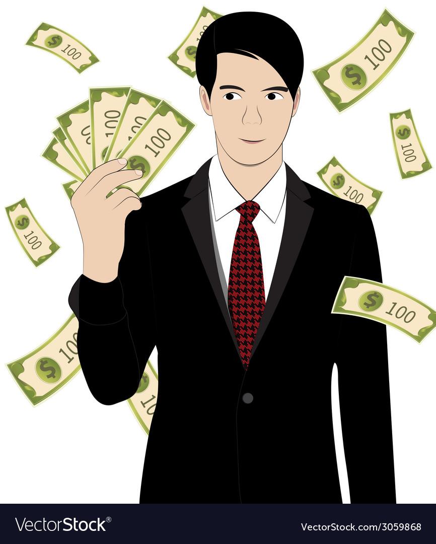 Hold money vector | Price: 1 Credit (USD $1)