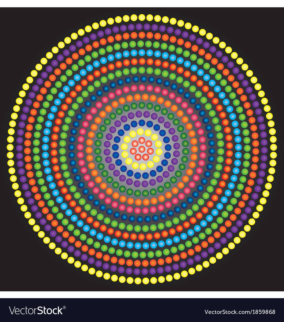 Psychedelic kaleidoscope circle vector | Price: 1 Credit (USD $1)