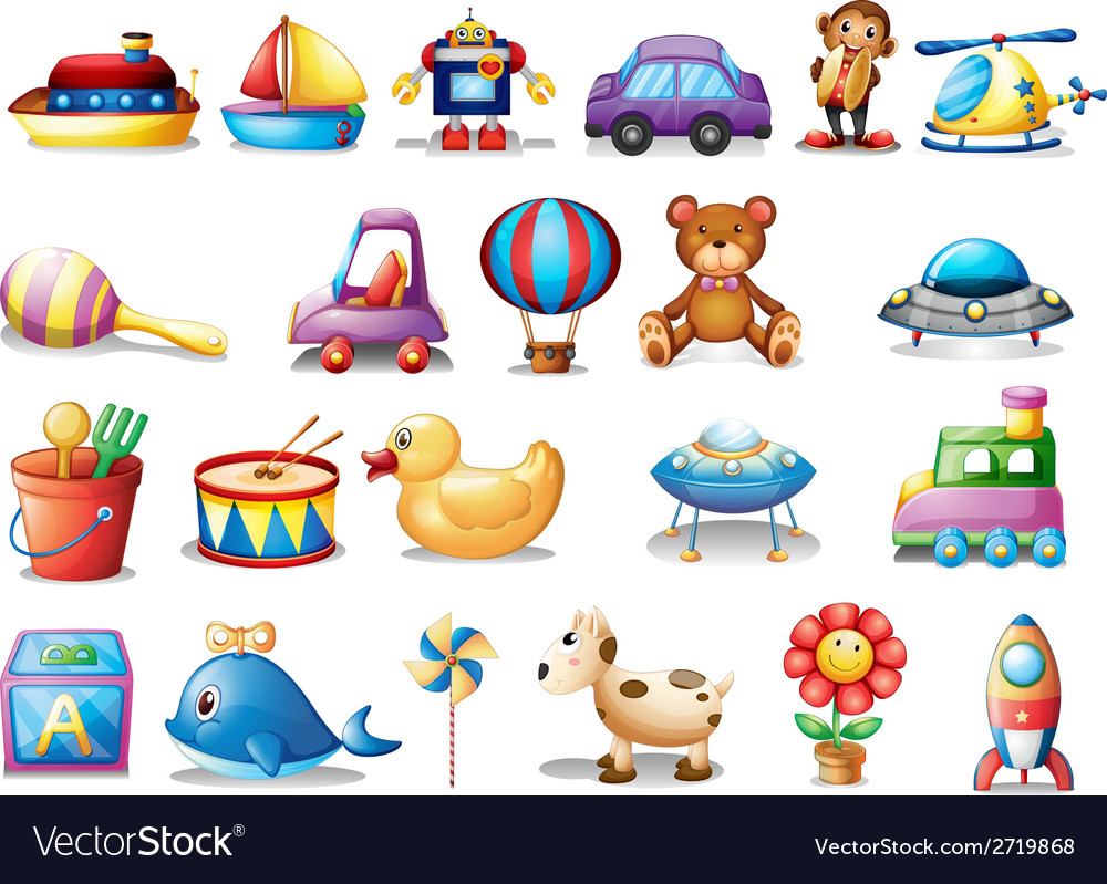 Set of different toys vector | Price: 1 Credit (USD $1)