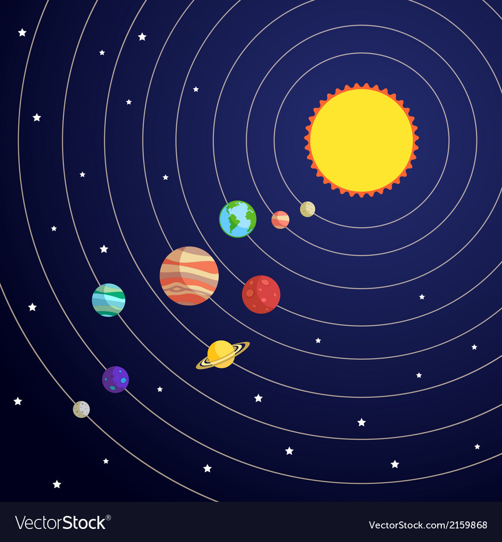 Solar system concept vector | Price: 1 Credit (USD $1)