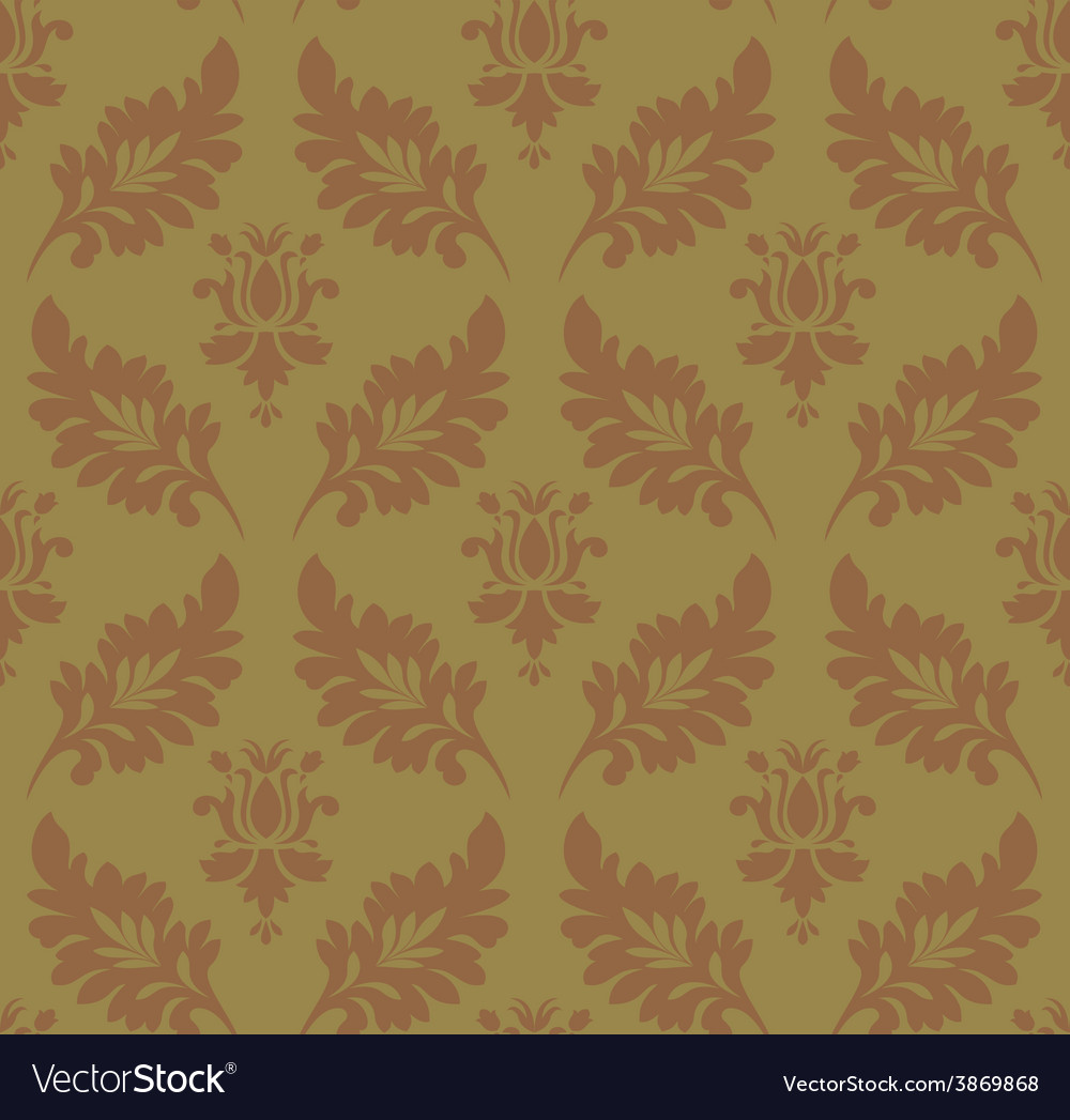 Vintage pattern seamless wallpaper vector | Price: 1 Credit (USD $1)