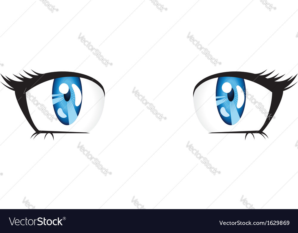 Anime style blue eyes vector | Price: 1 Credit (USD $1)