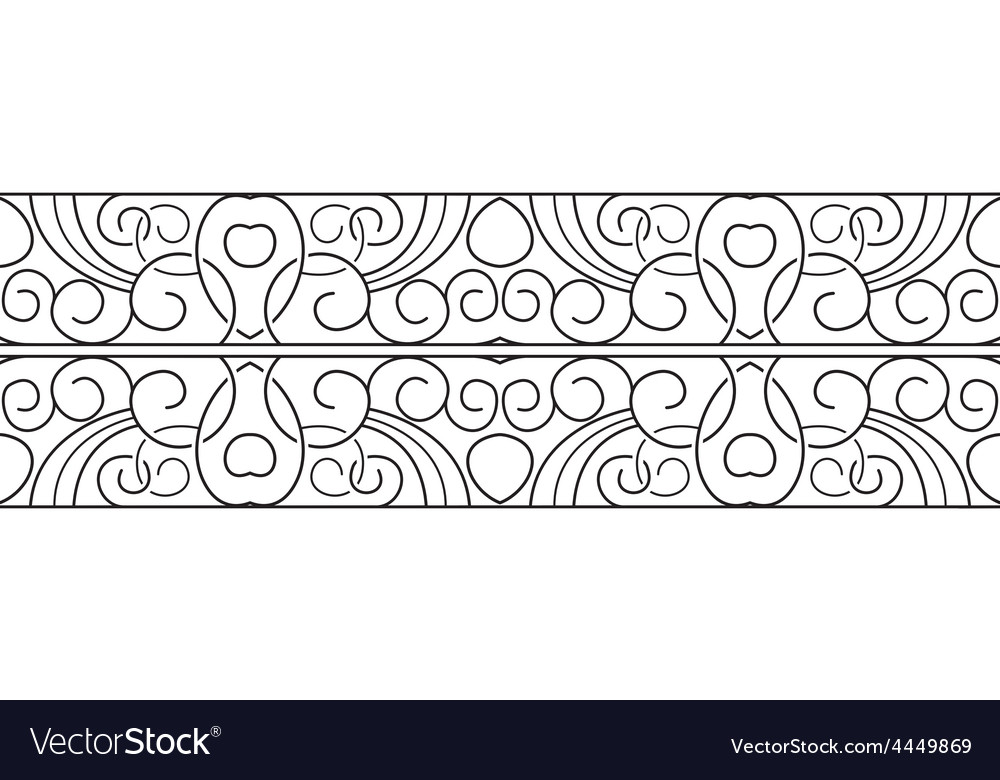 Border black seamless pattern vector | Price: 1 Credit (USD $1)