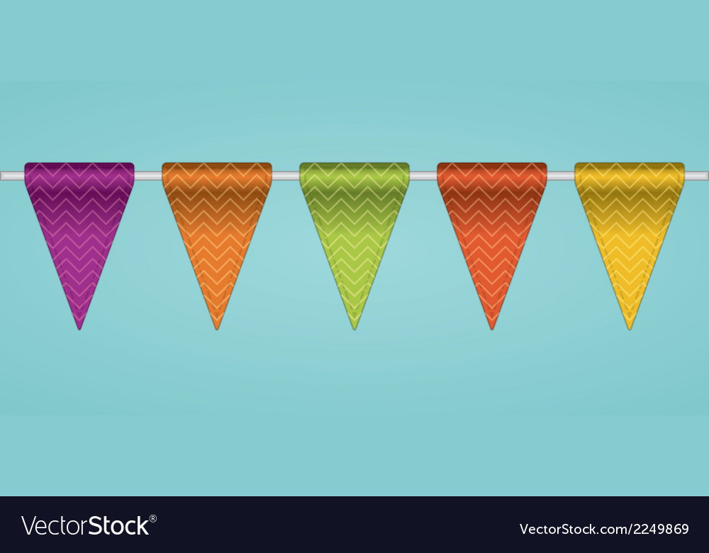 Bunting flags vector | Price: 1 Credit (USD $1)