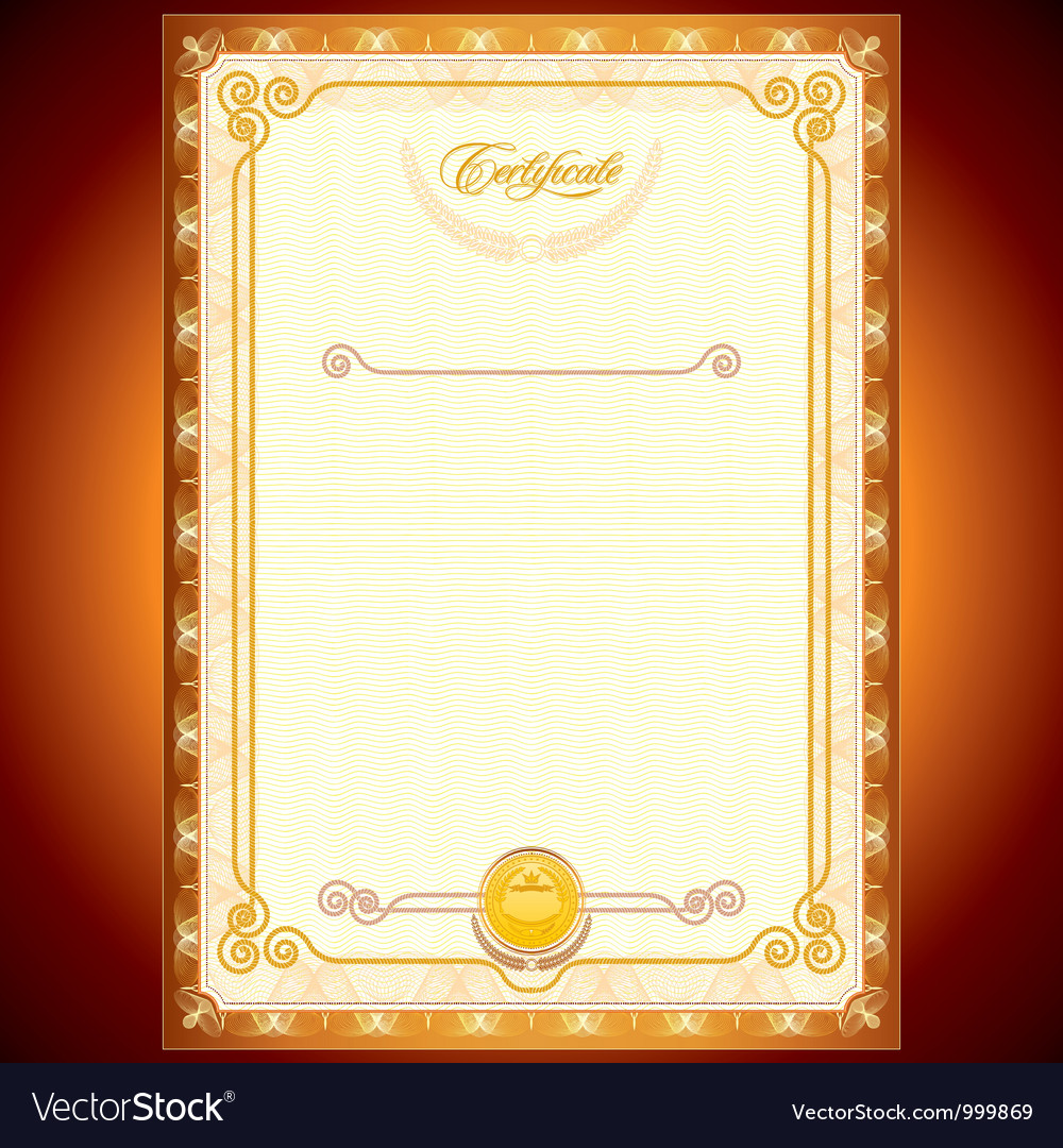 Certificate design template vector | Price: 1 Credit (USD $1)