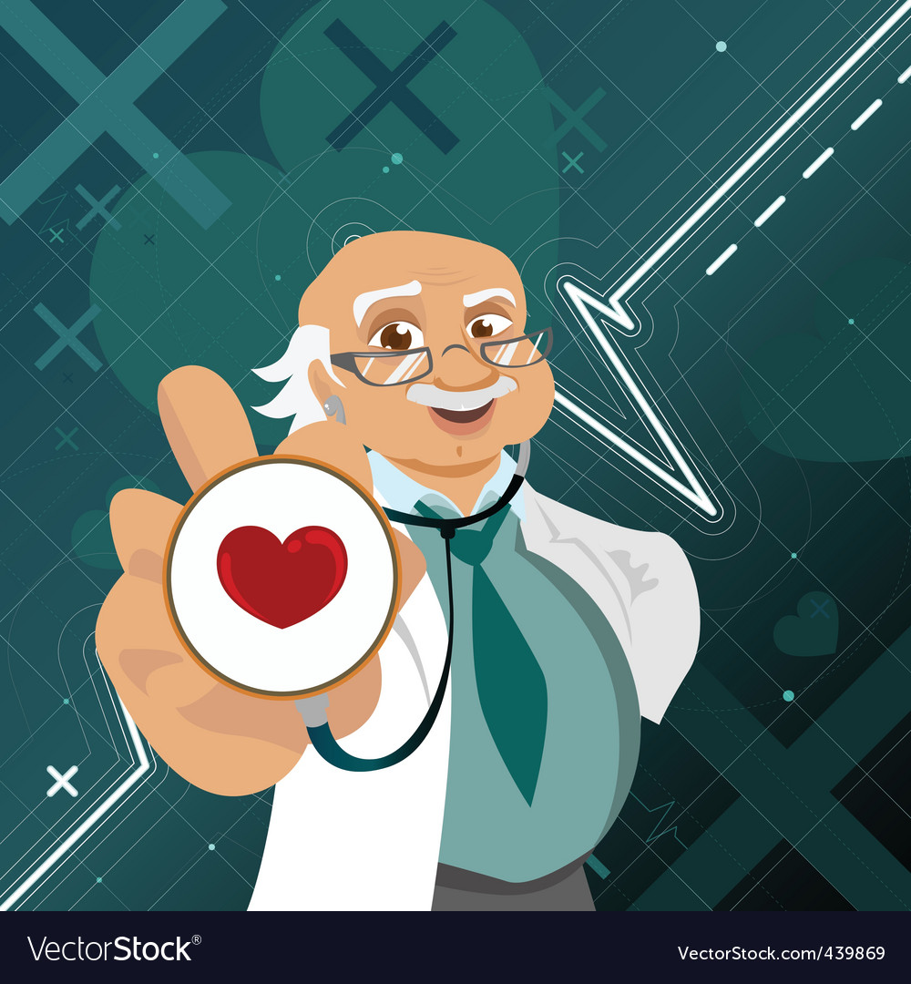 Doctor with health symbol vector | Price: 1 Credit (USD $1)
