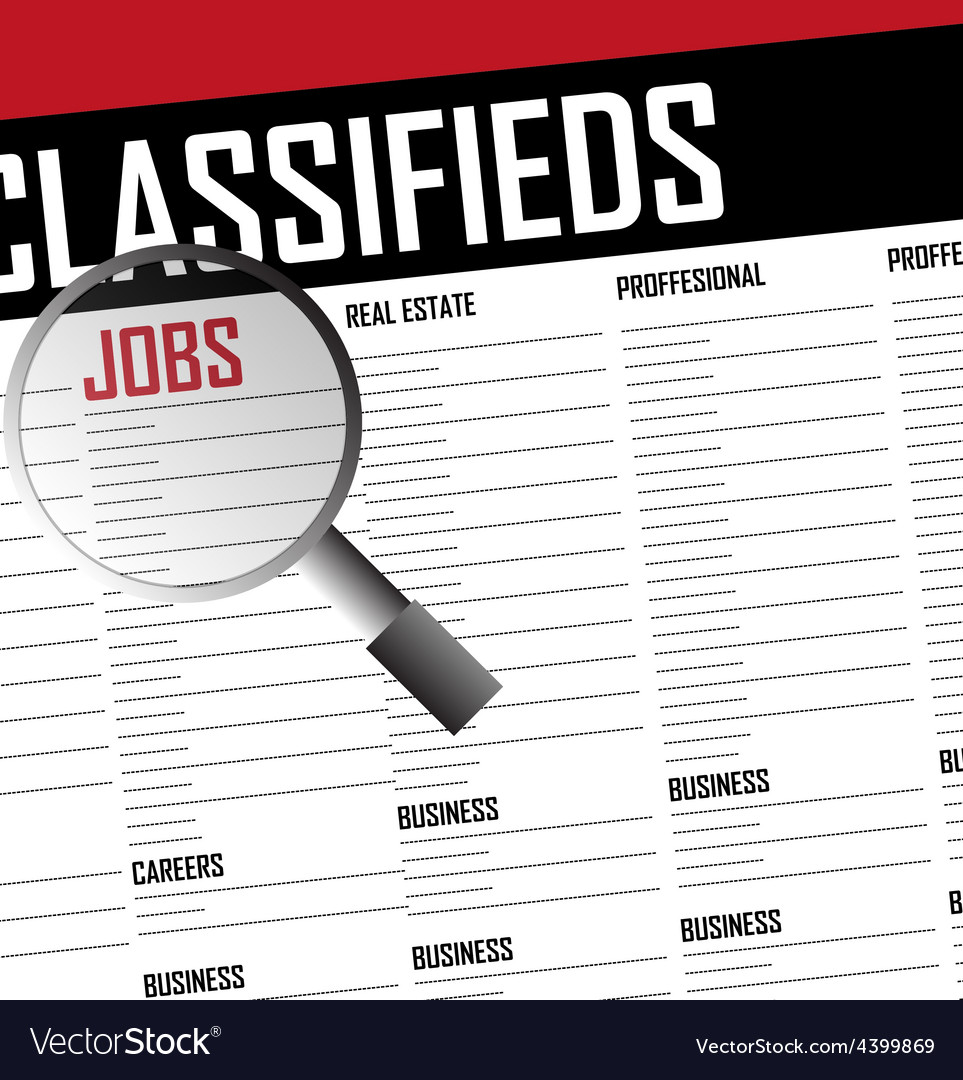Job classifieds search vector | Price: 3 Credit (USD $3)