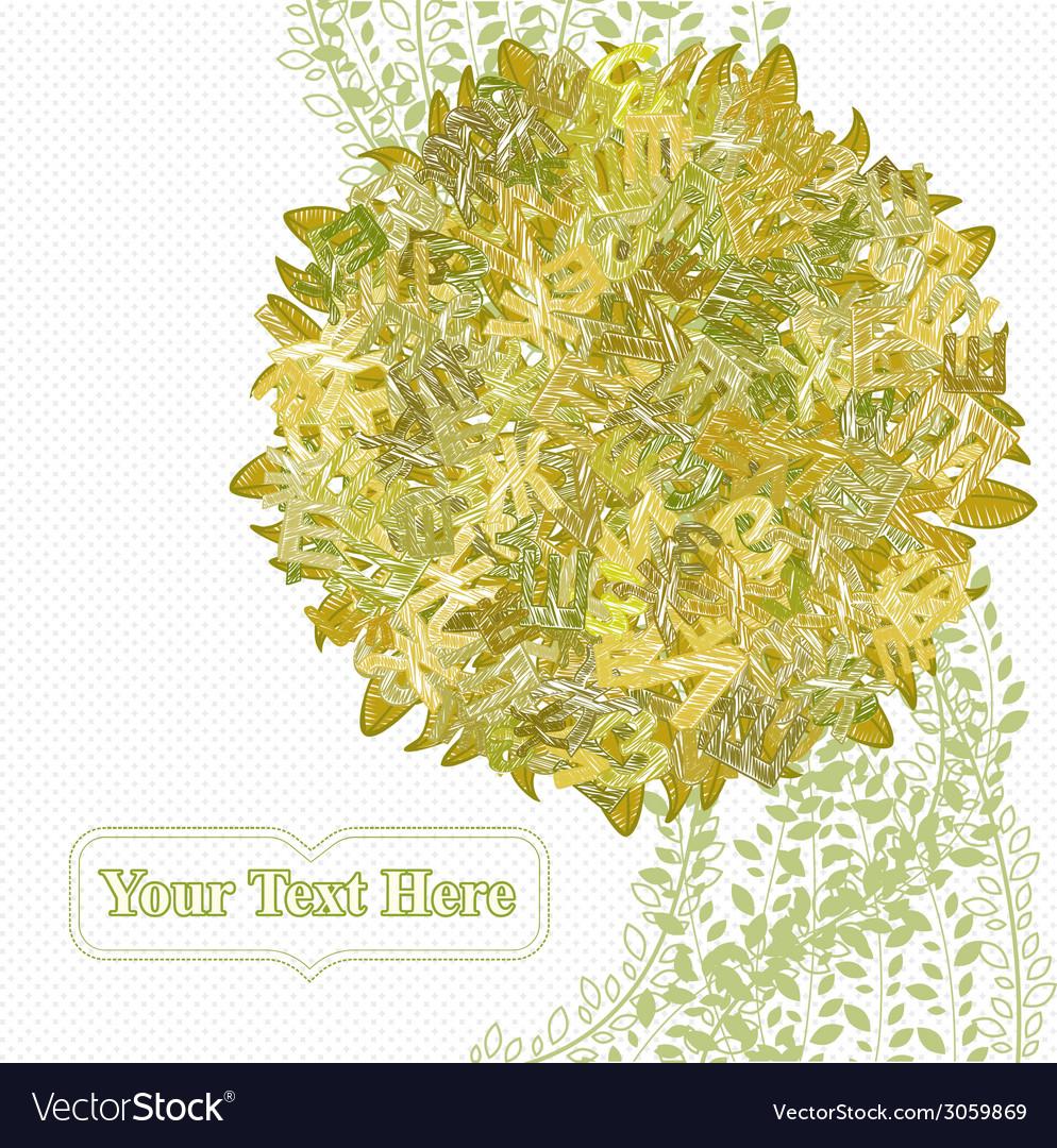 Letterleaf autumn tree vector | Price: 1 Credit (USD $1)