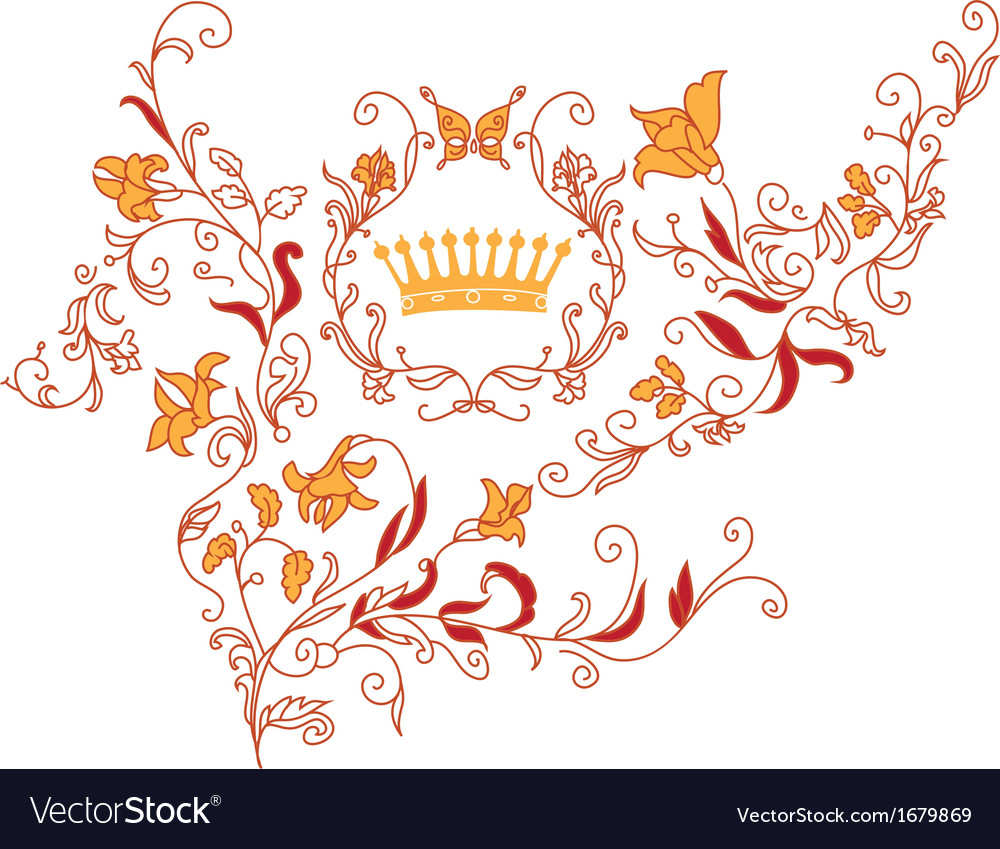 Rococo style ornament vector | Price: 1 Credit (USD $1)