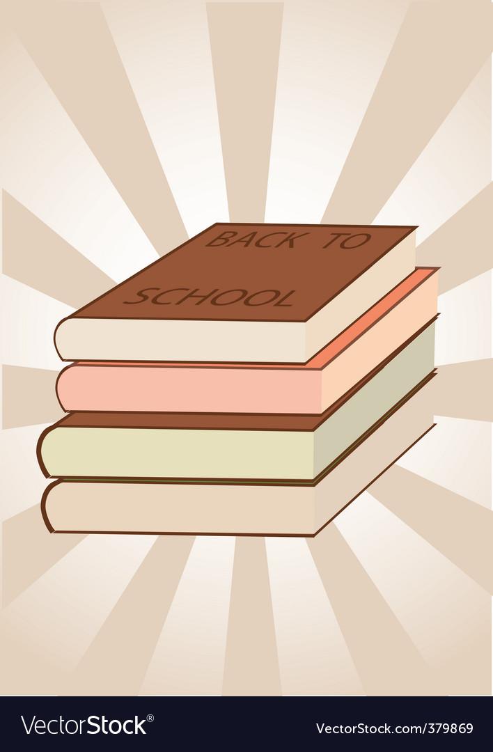 School books vector | Price: 1 Credit (USD $1)
