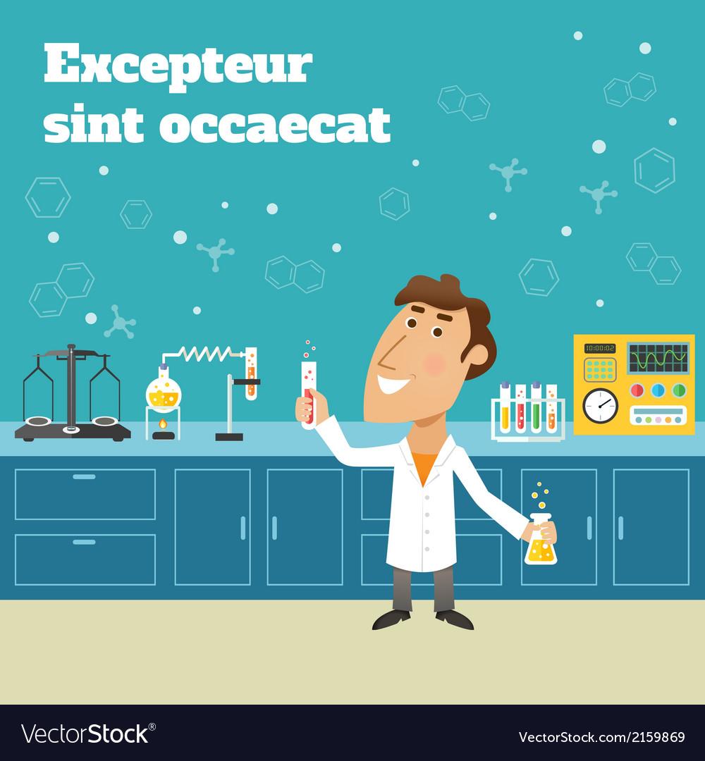 Scientist in lab vector   Price: 1 Credit (USD $1)