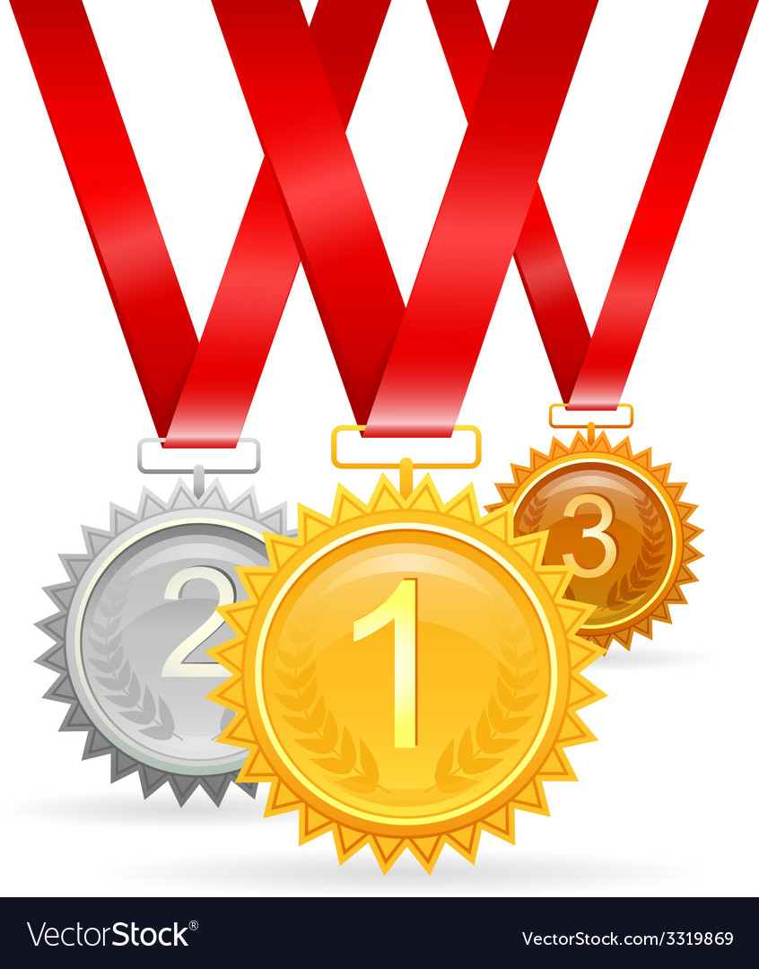 Three medals for awards vector | Price: 1 Credit (USD $1)