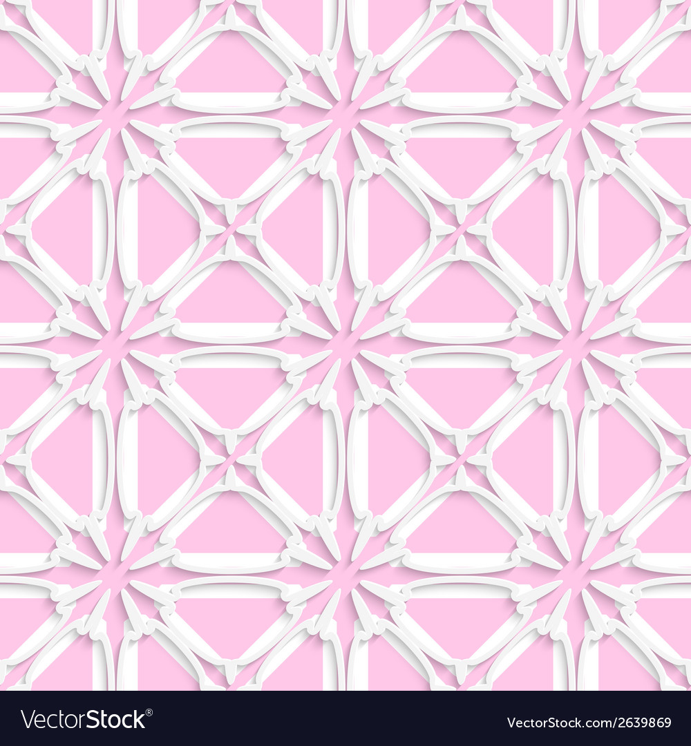 White tile ornament with light pink layering vector | Price: 1 Credit (USD $1)