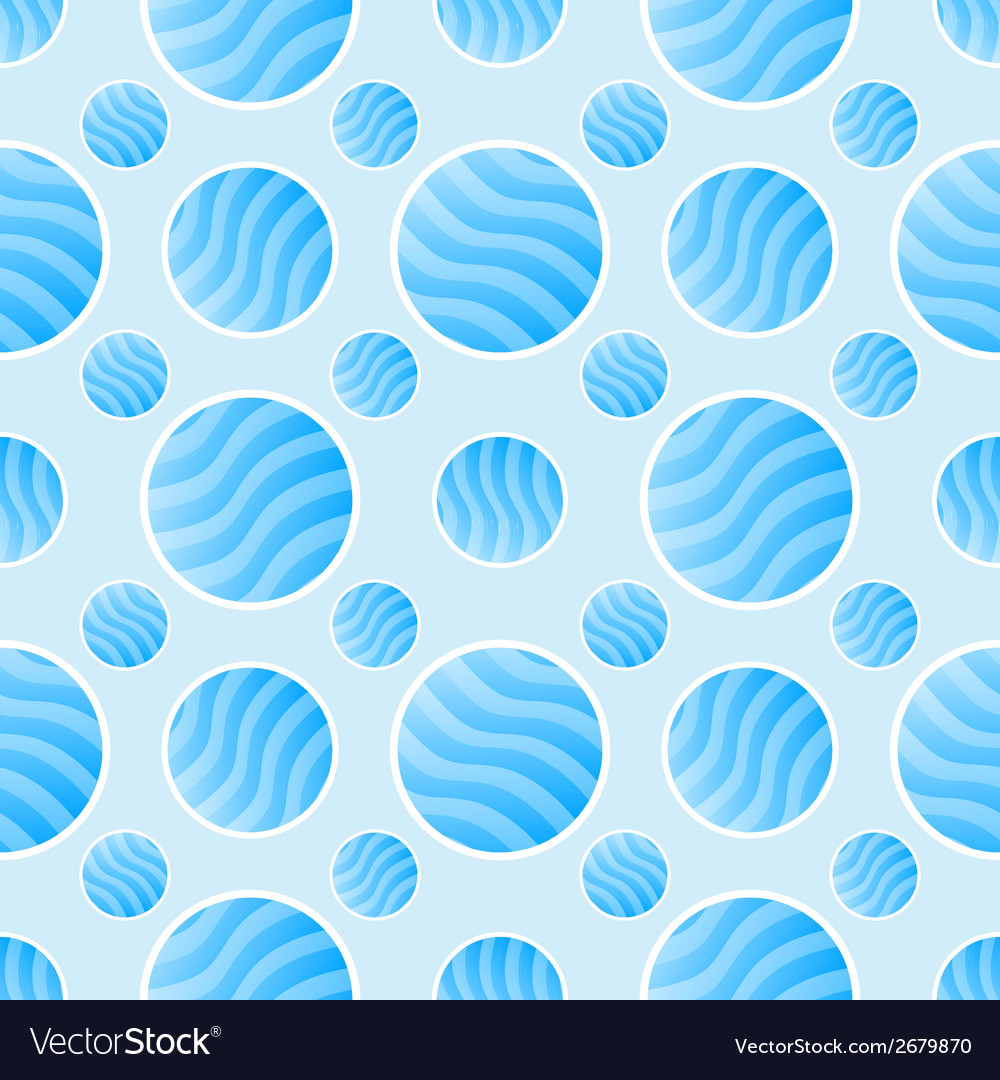 Blue polka dot pattern - abstract background vector | Price: 1 Credit (USD $1)