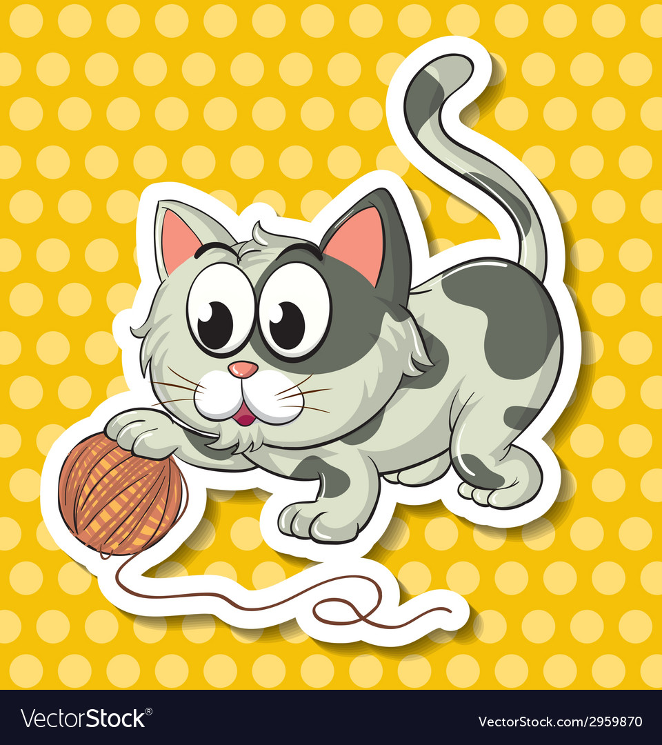 Cat and string vector | Price: 1 Credit (USD $1)