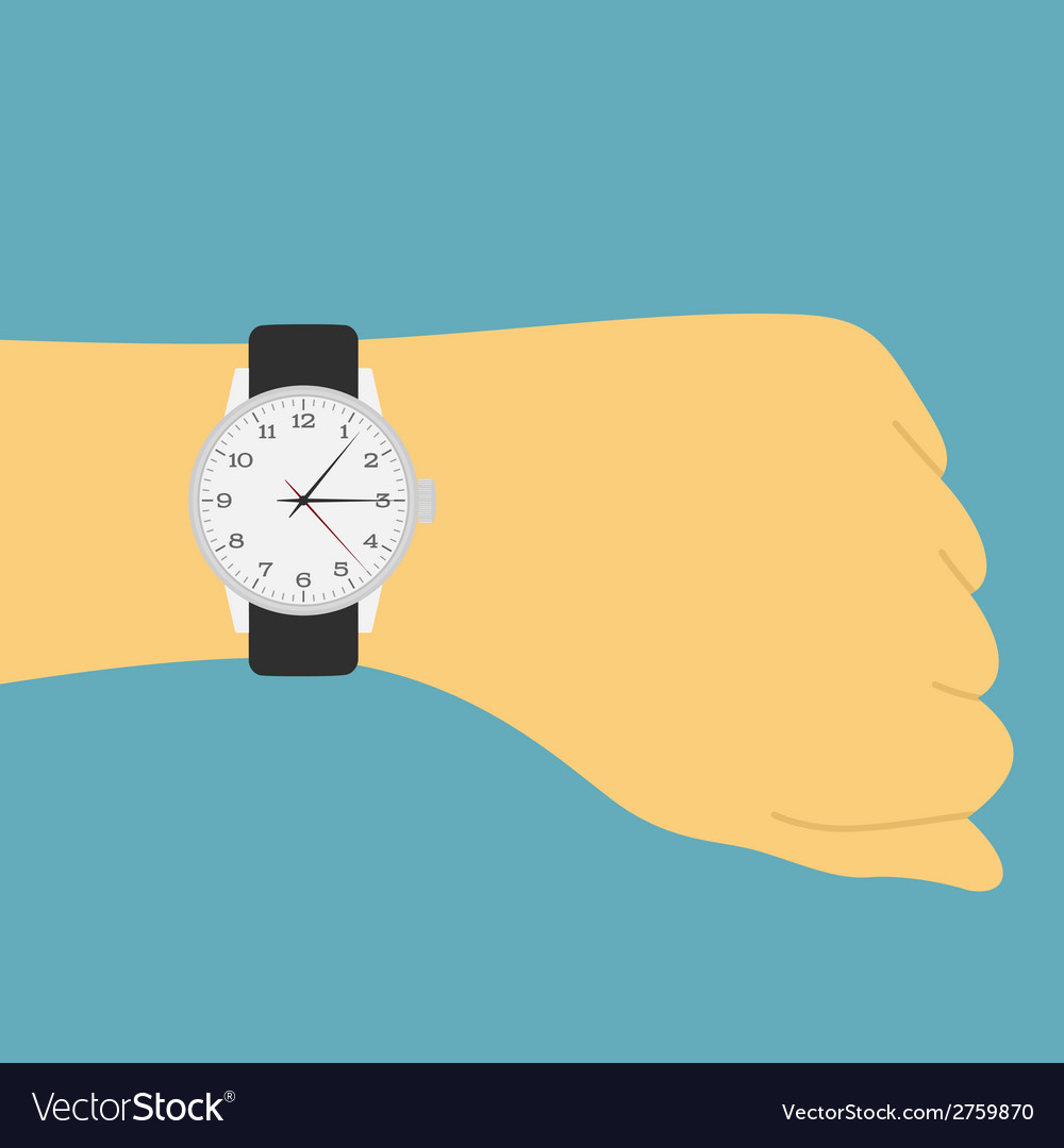 Hand watch vector | Price: 1 Credit (USD $1)