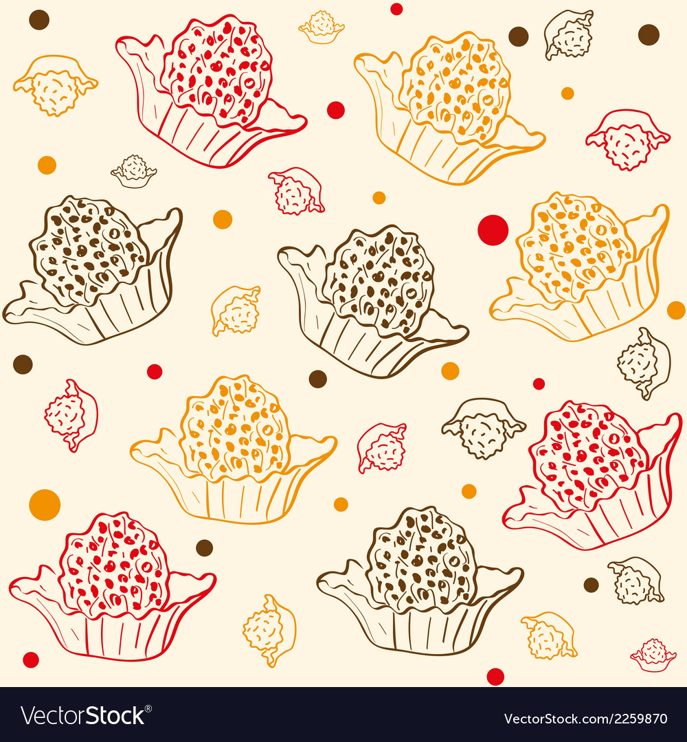 Pattern with chocolates vector | Price: 1 Credit (USD $1)