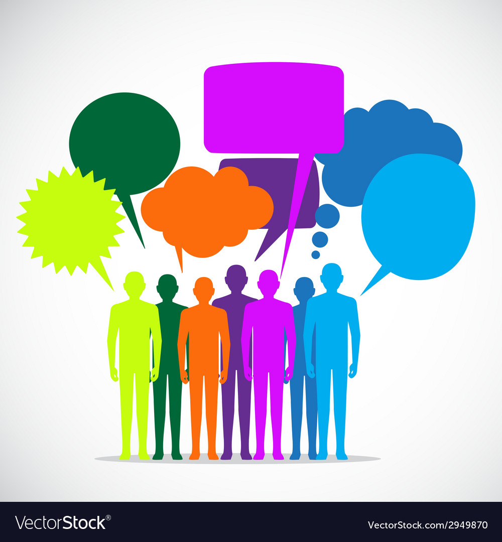 People colorful speech bubbles - vector | Price: 1 Credit (USD $1)