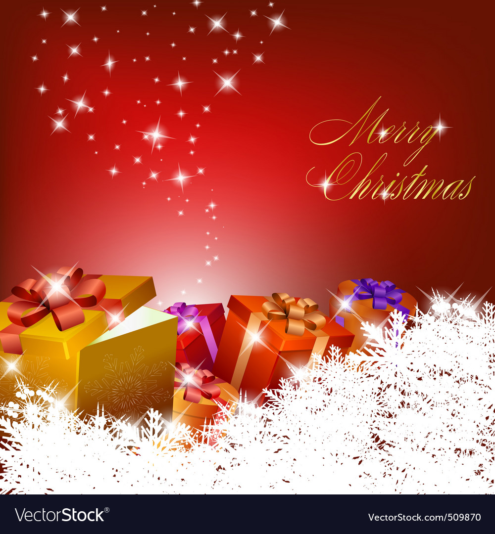 Red christmas background vector   Price: 1 Credit (USD $1)
