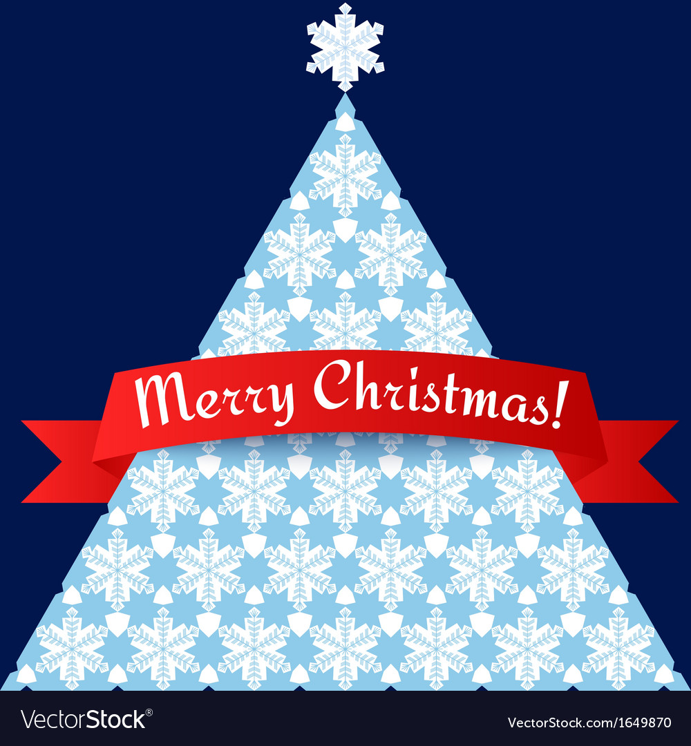 Stylized minimalistic christmas tree card vector | Price: 1 Credit (USD $1)