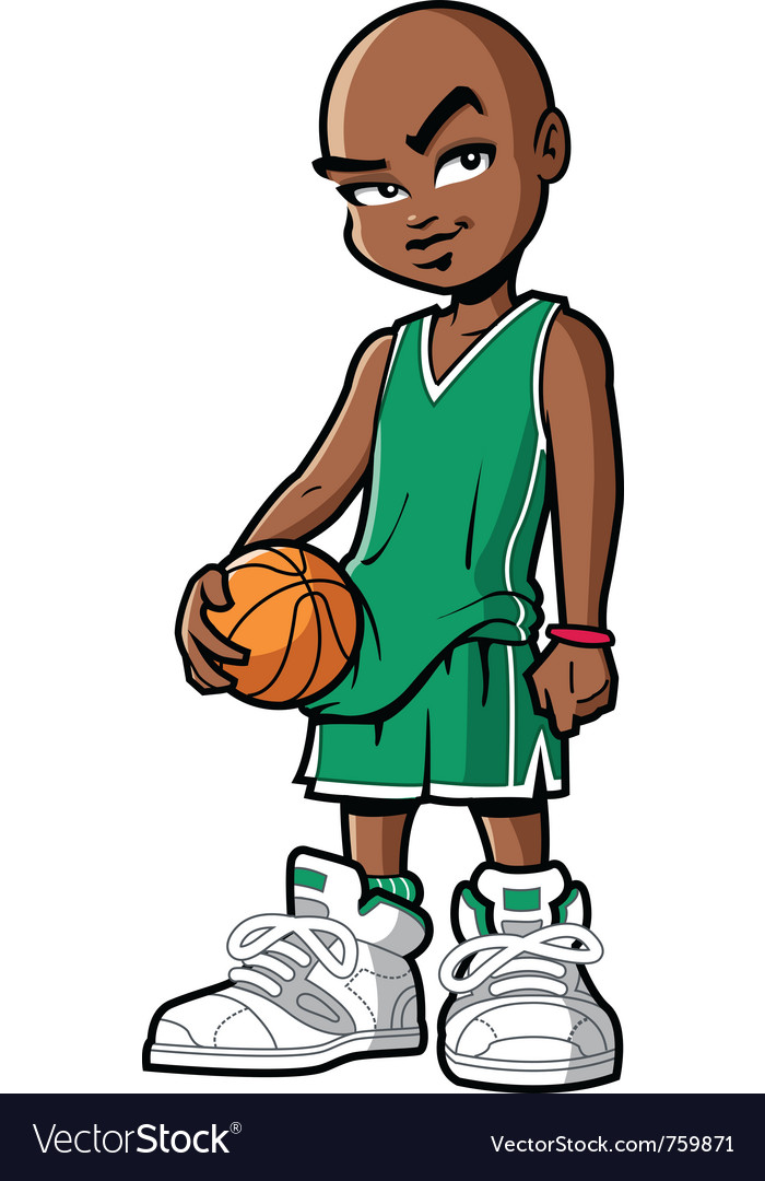 Basketball player with attitude vector | Price: 3 Credit (USD $3)
