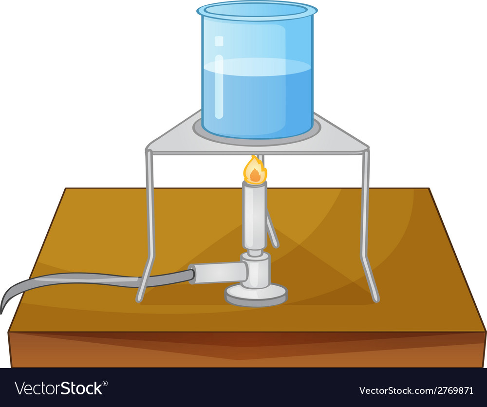 Beaker and burner vector | Price: 1 Credit (USD $1)