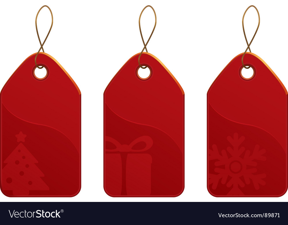 Christmas tag set vector | Price: 1 Credit (USD $1)