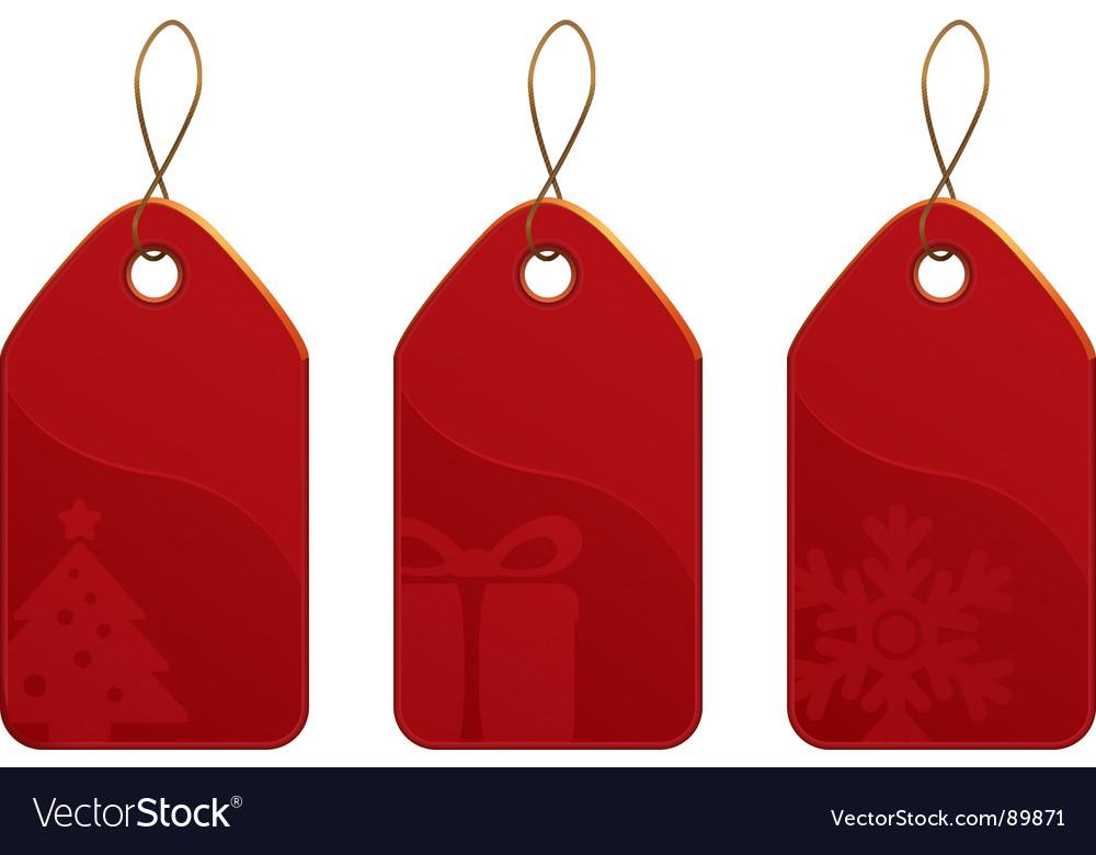 Christmas tag set vector