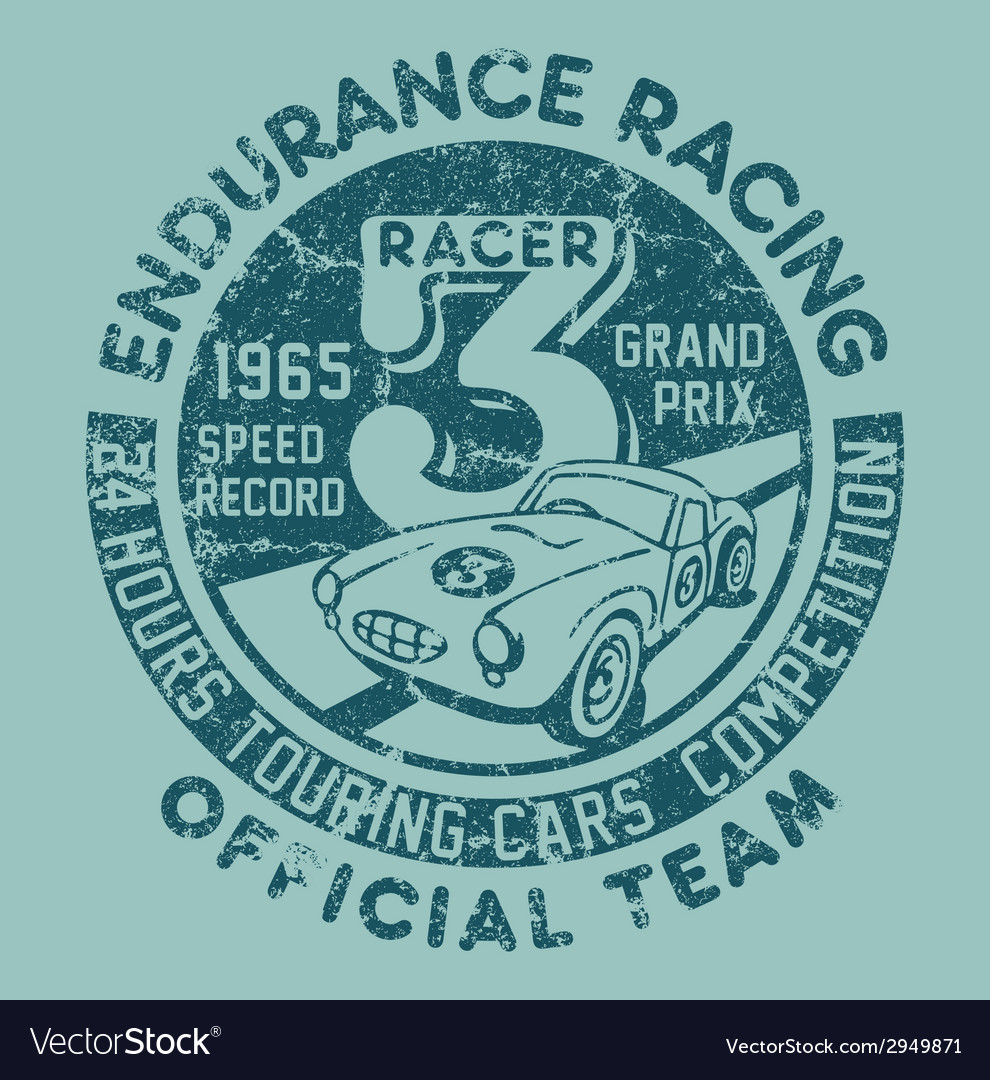 Endurance racing team vector | Price: 1 Credit (USD $1)