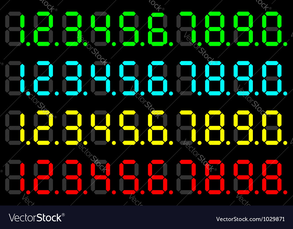 Led digits vector | Price: 1 Credit (USD $1)