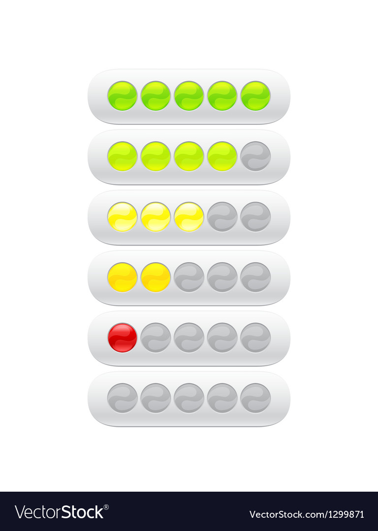 Progress bar from many color circles vector | Price: 1 Credit (USD $1)
