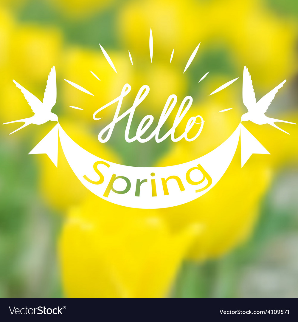 Spring blurry background vector | Price: 1 Credit (USD $1)