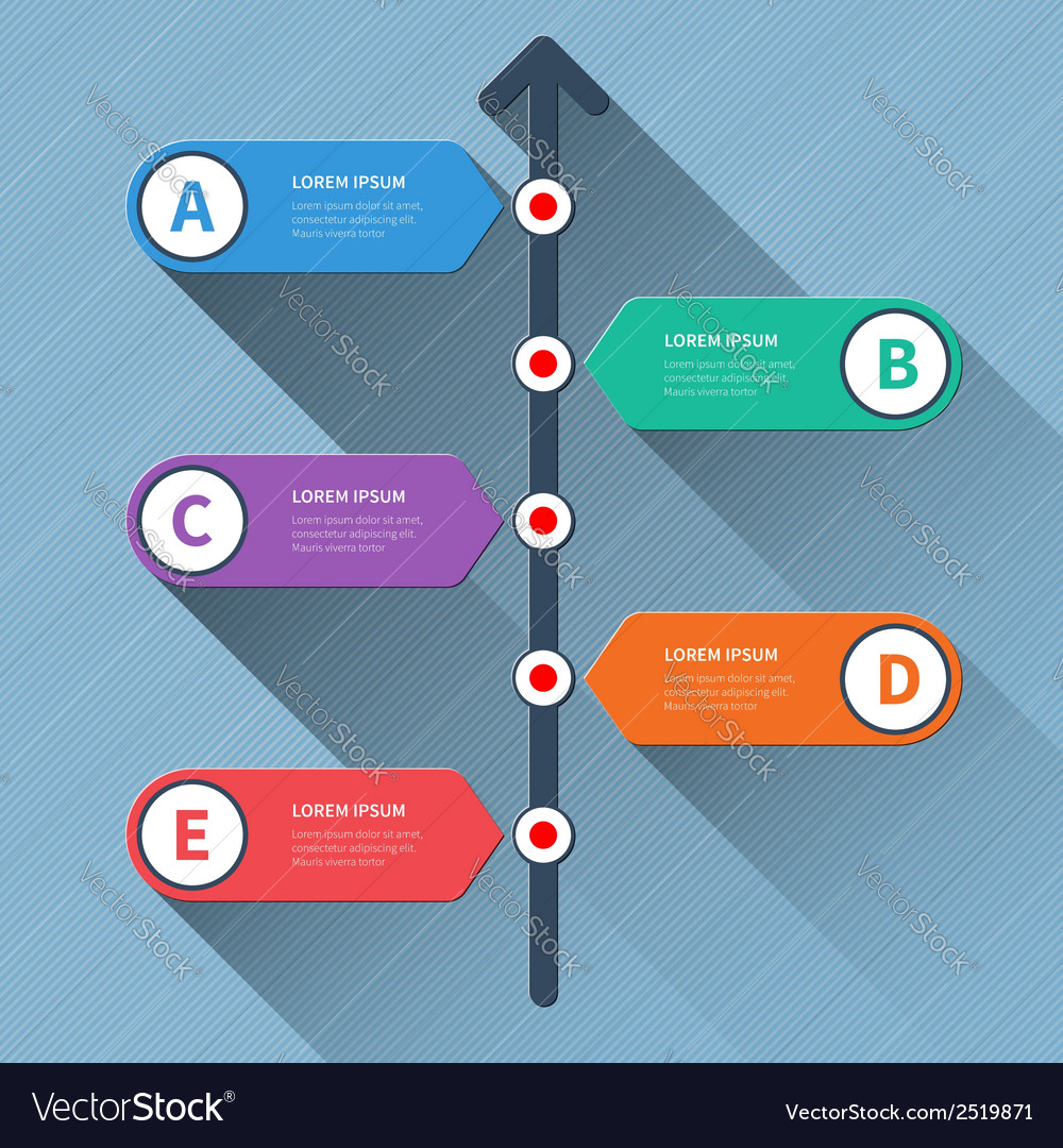 Timeline minimal arrow step styled infographics vector | Price: 1 Credit (USD $1)