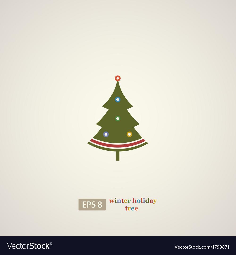Winter holidays decoration tree vector | Price: 1 Credit (USD $1)