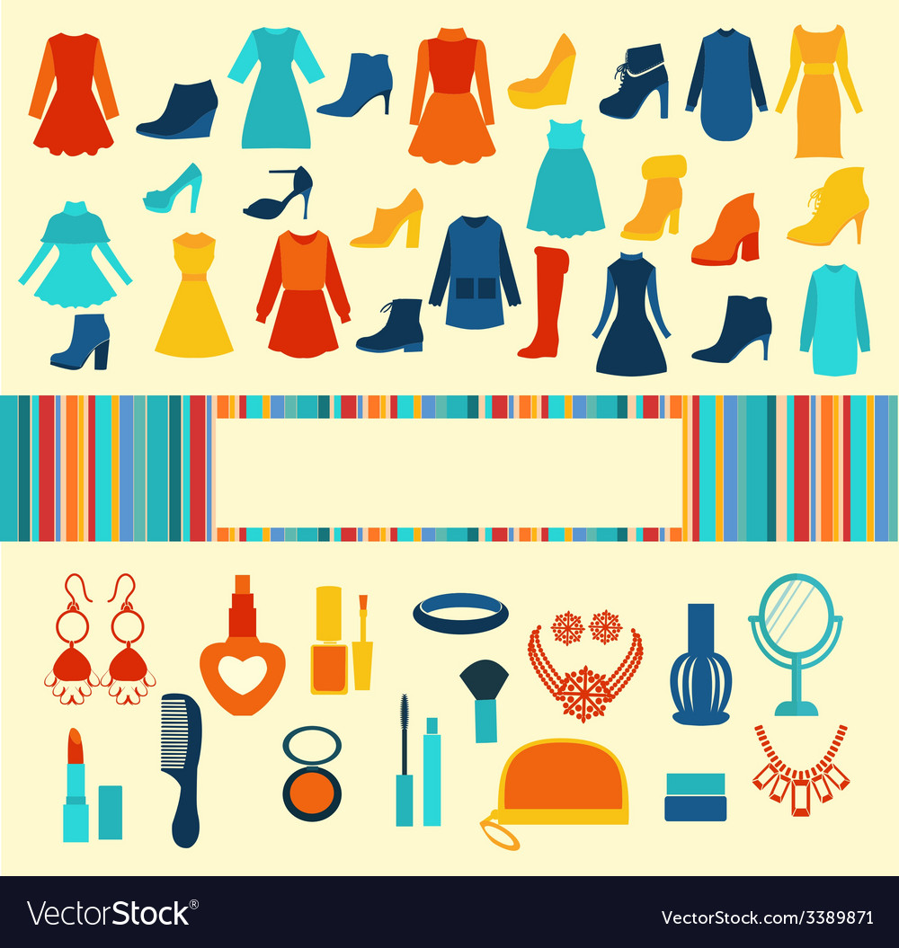 Women accessories shopping background vector | Price: 1 Credit (USD $1)