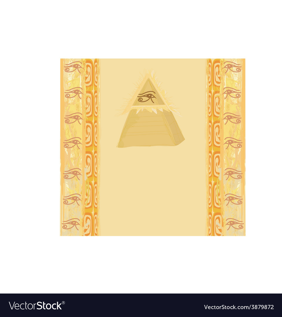 Ancient pyramid eye design vector | Price: 1 Credit (USD $1)