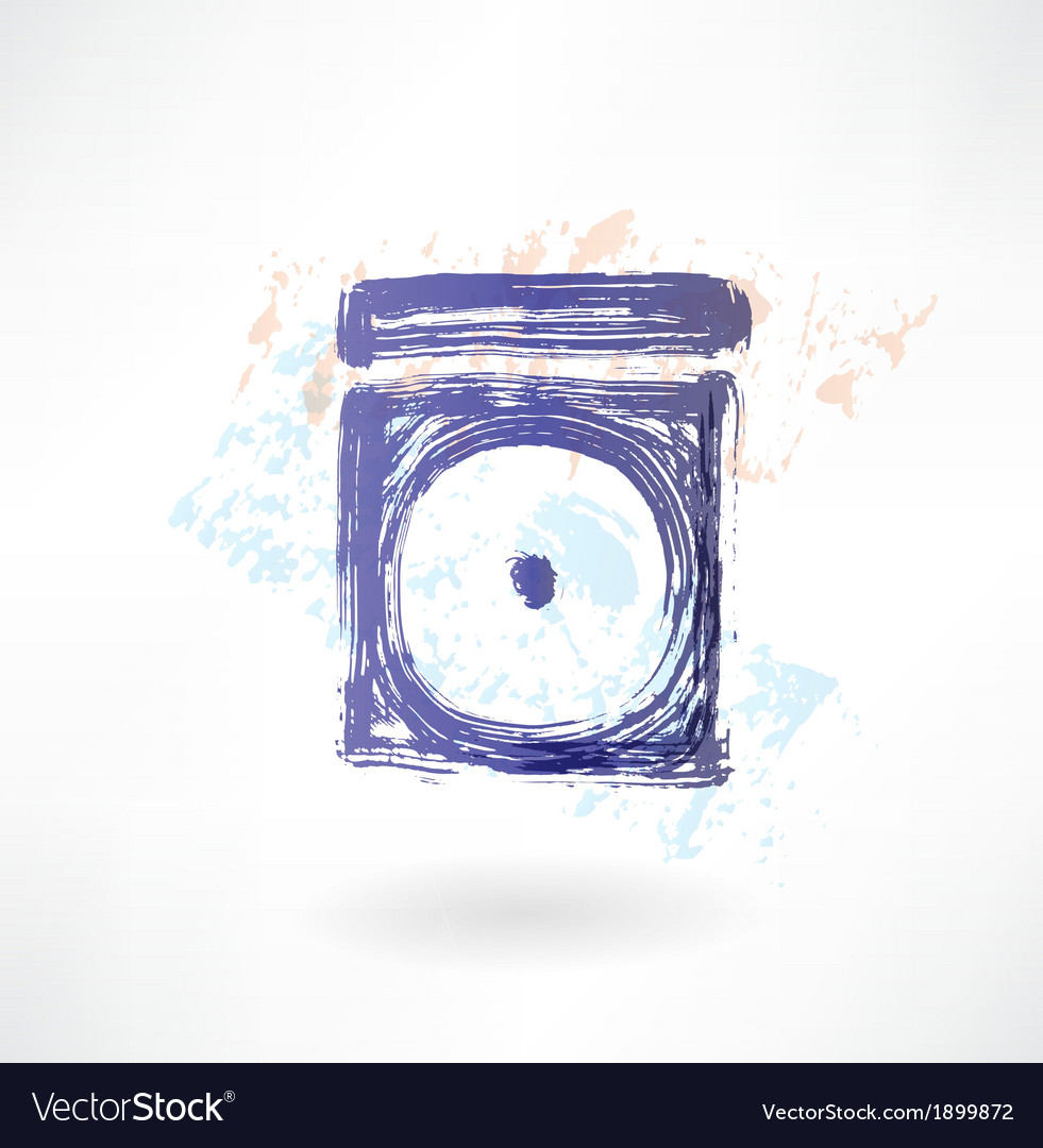 Disk in the box grunge icon vector | Price: 1 Credit (USD $1)