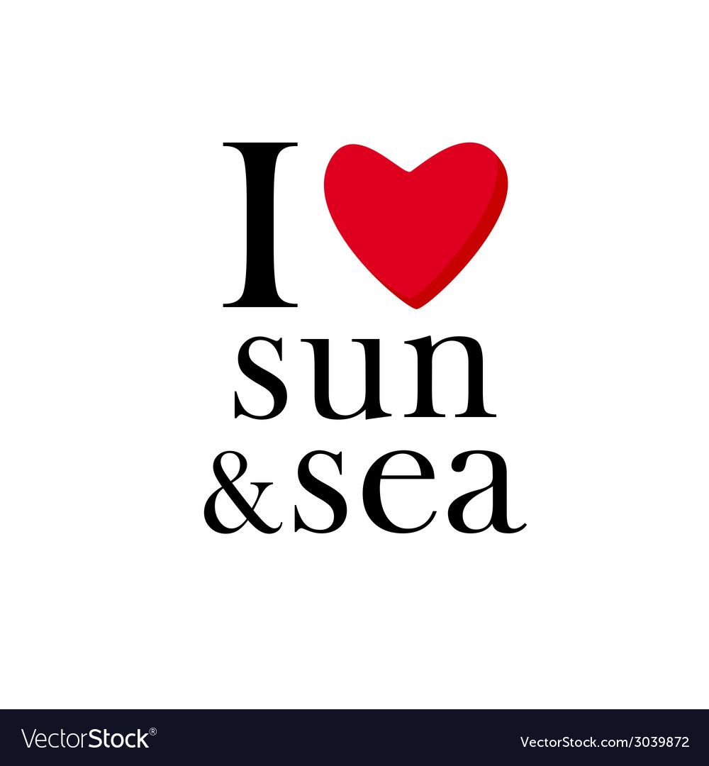 I love sun and sea icon vector | Price: 1 Credit (USD $1)