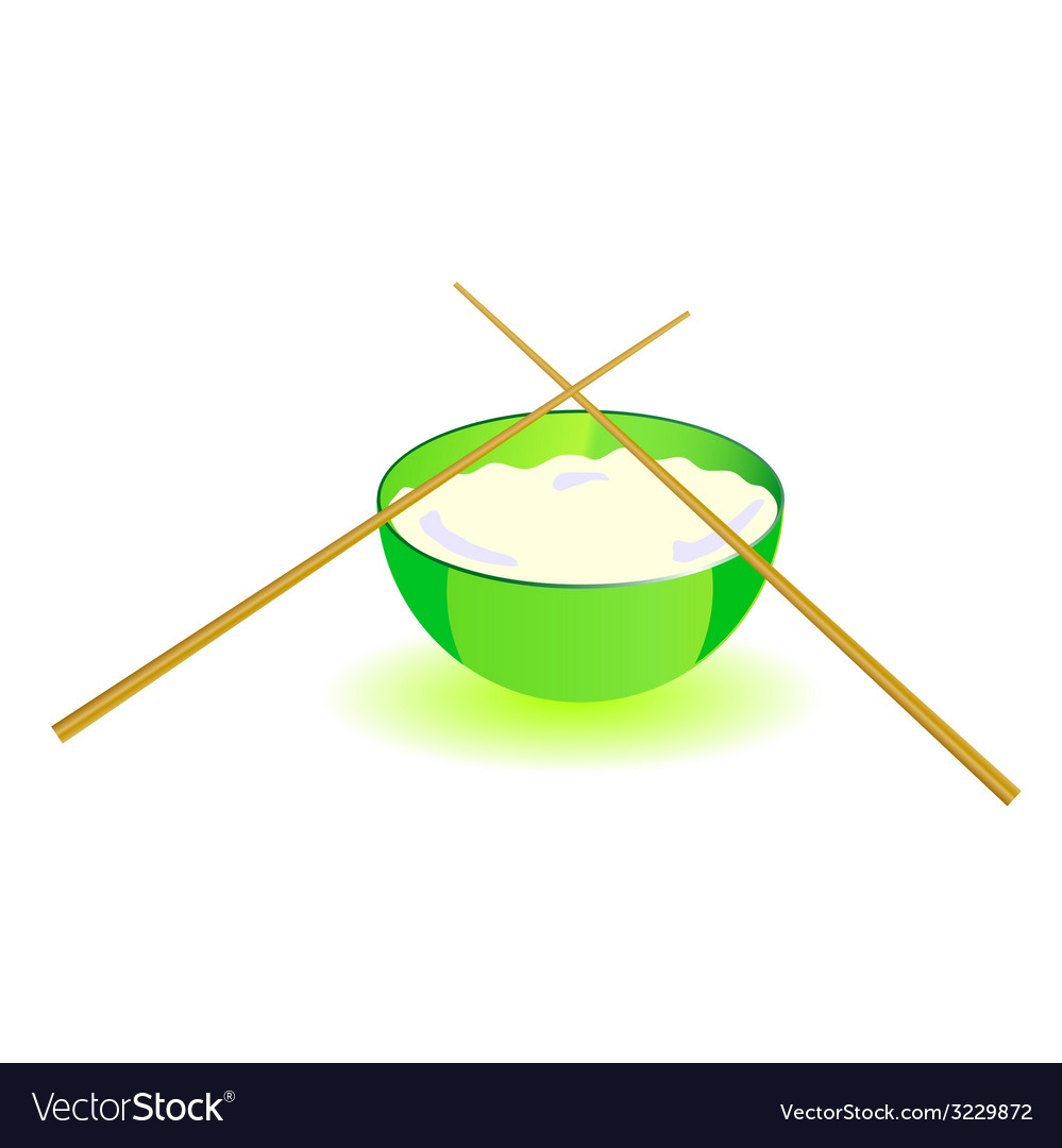 Japanese rice bowl with sticks part two vector | Price: 1 Credit (USD $1)