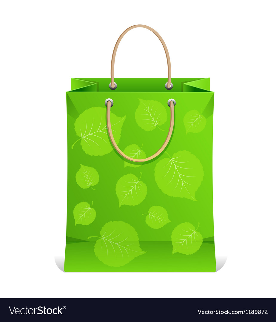 Paper shopping bag isolated on white vector | Price: 1 Credit (USD $1)
