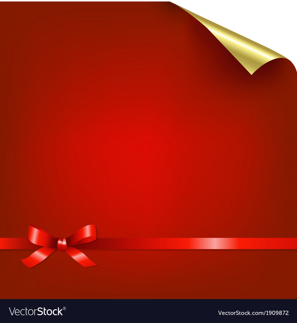 Red bokeh background with bow vector | Price: 1 Credit (USD $1)